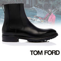 TOM FORD Plain Leather U Tips Chelsea Boots Chelsea Boots