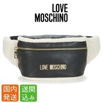 Moschino Casual Style Unisex Street Style Plain Shoulder Bags