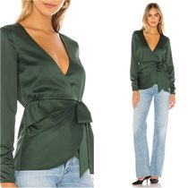 HOUSE OF HARLOW 1960 Casual Style Long Sleeves Plain Medium Shirts & Blouses
