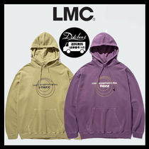LMC Unisex Street Style Long Sleeves Cotton Medium Oversized