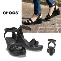 CROCS Wedge Casual Style Plain Office Style Elegant Style