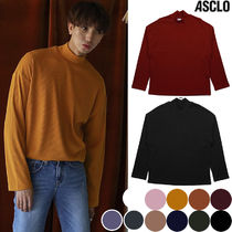 ASCLO Unisex Street Style Collaboration Long Sleeves Plain