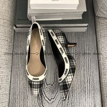 Christian Dior Tartan Pointed Toe Pumps & Mules