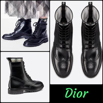 Christian Dior Tartan Rubber Sole Plain Ankle & Booties Boots