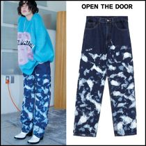 OPEN THE DOOR Unisex Denim Street Style Jeans & Denim