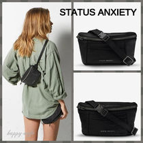 STATUS ANXIETY Casual Style Unisex Plain Leather Elegant Style