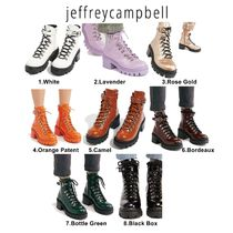 Jeffrey Campbell Lace-up Casual Style Plain Leather Lace-up Boots