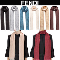 FENDI Casual Style Silk Handmade Fringes Elegant Style Accessories