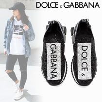 Dolce & Gabbana Plain Toe Rubber Sole Casual Style Blended Fabrics
