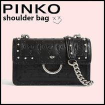 PINKO Studded Chain Shoulder Bags