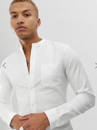 Long Sleeves Plain Cotton Shirts