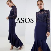 ASOS Maxi Long Sleeves Long High-Neck Lace Dresses
