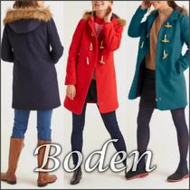 Boden Wool Plain Duffle Coats