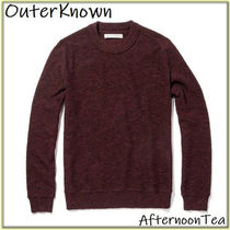 Outer known Crew Neck Long Sleeves Plain Handmade Knits & Sweaters