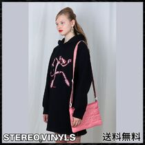 STEREO VINYLS COLLECTION Street Style Shoulder Bags