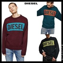 DIESEL Crew Neck Pullovers Long Sleeves Knits & Sweaters