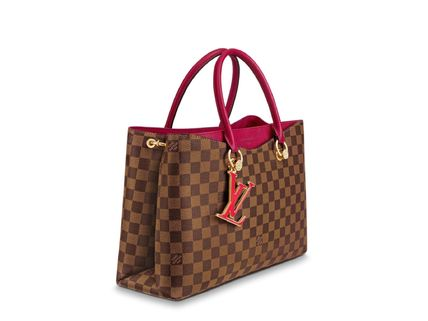 Louis Vuitton Handbags Casual Style Calfskin Blended Fabrics A4 2WAY Office Style 4
