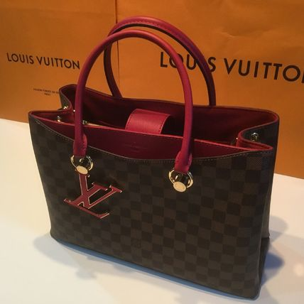 Louis Vuitton Handbags Casual Style Calfskin Blended Fabrics A4 2WAY Office Style 7
