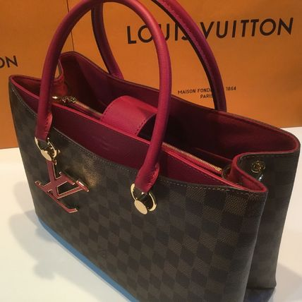 Louis Vuitton Handbags Casual Style Calfskin Blended Fabrics A4 2WAY Office Style 9