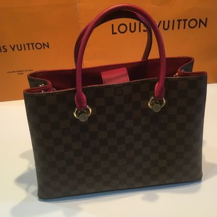 Louis Vuitton Handbags Casual Style Calfskin Blended Fabrics A4 2WAY Office Style 11