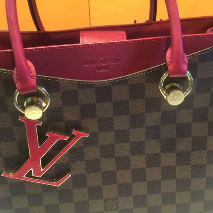 Louis Vuitton Handbags Casual Style Calfskin Blended Fabrics A4 2WAY Office Style 15