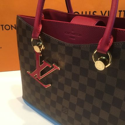 Louis Vuitton Handbags Casual Style Calfskin Blended Fabrics A4 2WAY Office Style 17