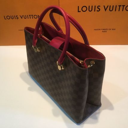 Louis Vuitton Handbags Casual Style Calfskin Blended Fabrics A4 2WAY Office Style 20