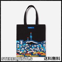 STEREO VINYLS COLLECTION Unisex Street Style Shoulder Bags
