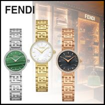 FENDI FOREVER Round Party Style Quartz Watches Stainless With Jewels
