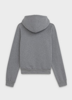 CELINE Hoodies Unisex Street Style Long Sleeves Plain Cotton Hoodies 7
