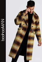 boohoo Other Check Patterns Street Style Long Coats