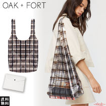 OAK + FORT Other Check Patterns Casual Style Crystal Clear Bags