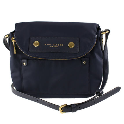 Casual Style Nylon Crossbody Logo Shoulder Bags