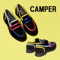 CAMPER Moccasin Round Toe Casual Style Plain Leather