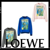 LOEWE ELN Crew Neck Long Sleeves Cotton Sweatshirts