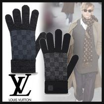 Louis Vuitton DAMIER Other Check Patterns Wool Gloves Gloves