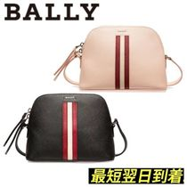 BALLY Stripes Casual Style Leather Logo Shoulder Bags