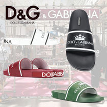 Dolce & Gabbana Leather Shower Shoes Shower Sandals
