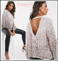 ASOS Long Sleeves Plain With Jewels Tops