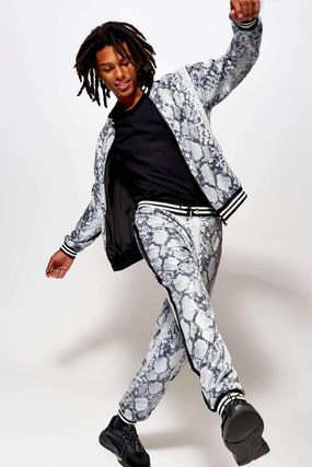 Printed Pants Unisex Street Style Other Animal Patterns