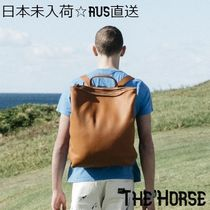 The Horse Casual Style Unisex Street Style A4 Plain Leather