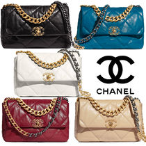 CHANEL Chain Plain Party Style Elegant Style Handbags