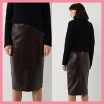 Lipsy Pencil Skirts Casual Style Faux Fur Other Animal Patterns