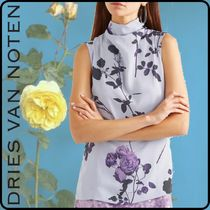 Dries Van Noten Flower Patterns Tropical Patterns Casual Style Wool Cropped