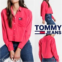 Tommy Hilfiger Long Sleeves Plain Cotton Shirts & Blouses