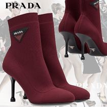 PRADA Plain Office Style Elegant Style Ankle & Booties Boots