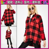 DOLLS KILL Other Check Patterns Casual Style Long Sleeves Cotton Medium