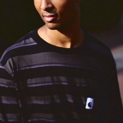 Stripes Unisex Street Style Collaboration Long Sleeves