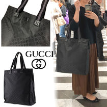 GUCCI Monogram Unisex Street Style Totes