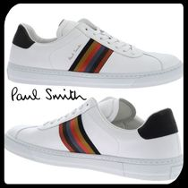 Paul Smith Stripes Street Style Bi-color Leather Sneakers